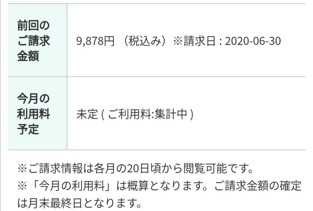 RISU算数2020年6月支払い明細