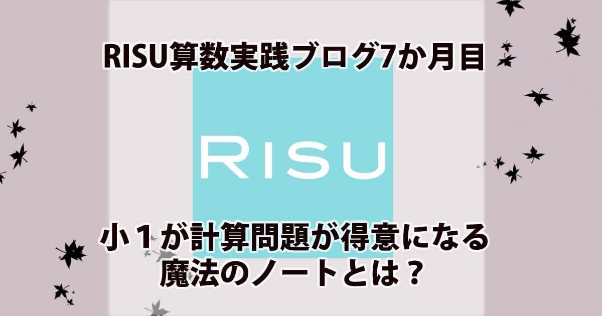 RISU算数実践ブログ7ヶ月目アイキャッチ画像