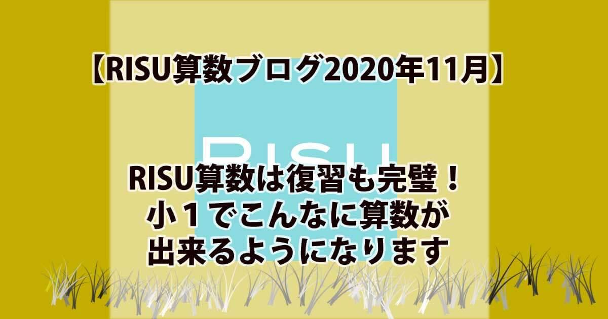 RISU算数実践ブログ11月アイキャッチ画像
